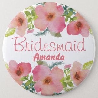 Cute personalized flourish team bride button