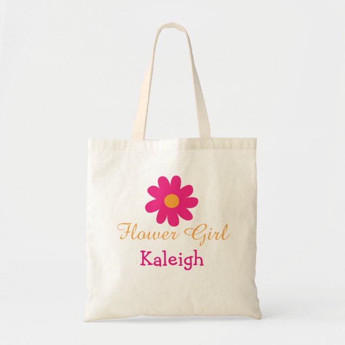 Cute Personalized Flower Tote Bag