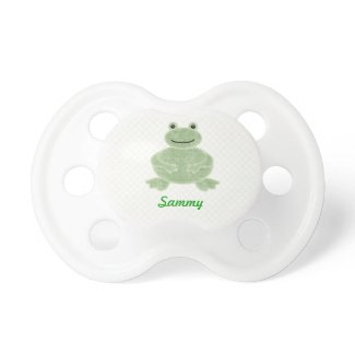 Cute personalized frog pacifier
