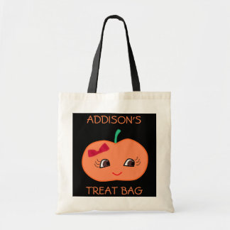 Cute Personalized Halloween Bags With Pumpkin