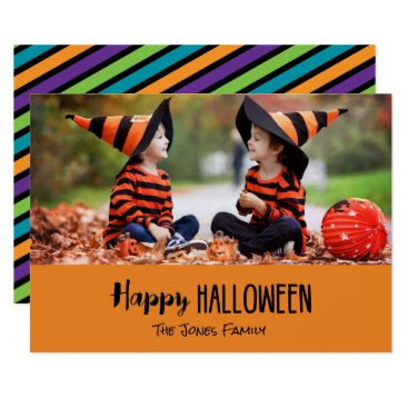Halloween Themed Cute Personalized Halloween Photo Card