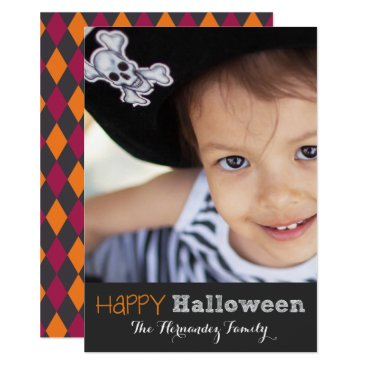 Halloween Themed Cute Personalized Happy Halloween Photo Card