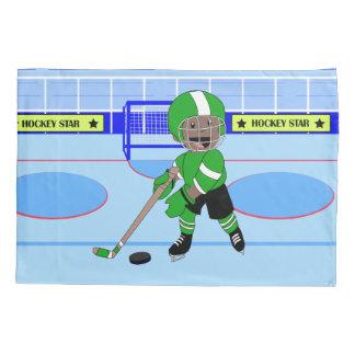 Cute Personalized Ice Hockey star Pillowcase