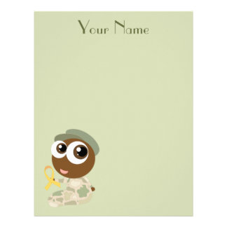 Cute Personalized Kids Military Family Stationery Letterhead