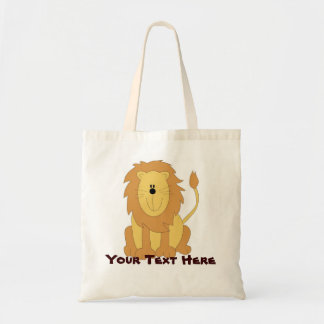 Cute Personalized Lion Tote Bag
