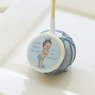 Cute Personalized Little Prince Baby Shower Cake Pops