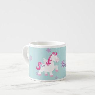 Cute Personalized Magical Unicorn Espresso Mug