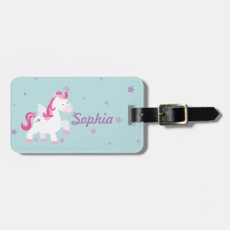 Cute Personalized Magical Unicorn Luggage Tag