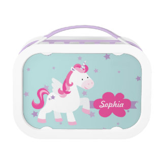 Cute Personalized Magical Unicorn Lunchbox at Zazzle