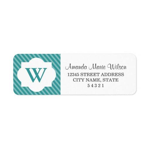 cute personalized monogram return address labels