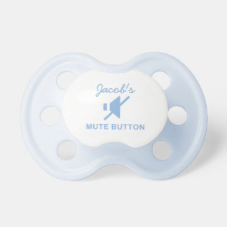 Cute Personalized Mute Button Binky Pacifier