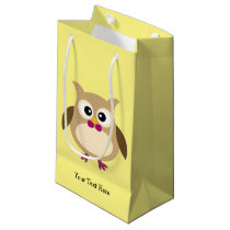 Cute Personalized Owl Small Gift Bag