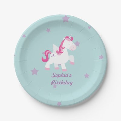 Unicorn Its A Girl Purple Baby Shower Personalized Paper Plate | Zazzle.com  sc 1 st  Zazzle : personalized paper plates - pezcame.com