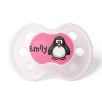 Cute Personalized Penguin Pacifier