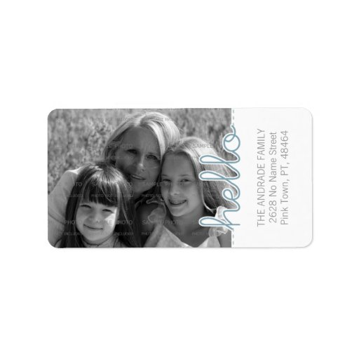 Cute Personalized Photo Address Labels | Hello