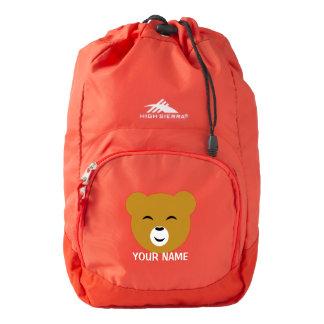 Cute Personalized Pleased Bear Face High Sierra Backpack