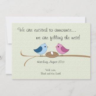 Cute Personalized Pregnancy Announcement