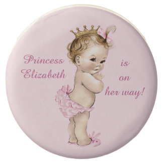 Cute Personalized Princess Baby Shower Chocolate Covered Oreo