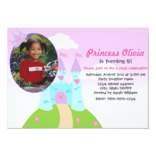 Medieval 5x7 birthday invitations zazzle cute personalized princess birthday invitation filmwisefo