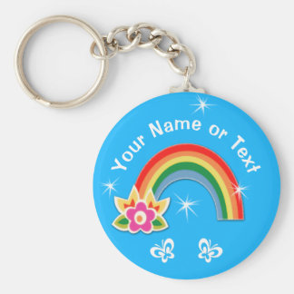 Cute Personalized Rainbow Party Favors for Girls Keychain