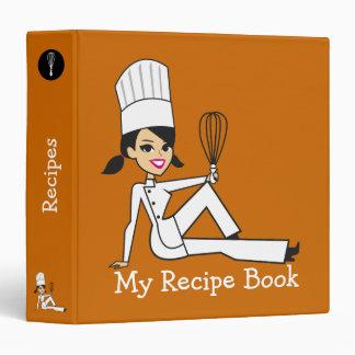 Cute Personalized Recipe Binder for Girls