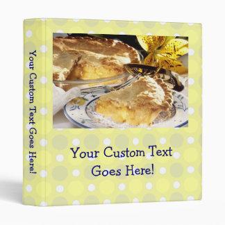 Cute Personalized Recipe Book, Apple Pie Photo 3 Ring Binders