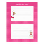Cute Personalized Recipe Pages Custom Letterhead