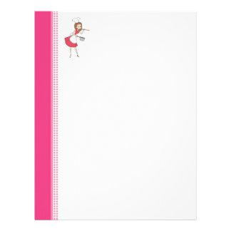 Cute Personalized Recipe Pages Letterhead Design
