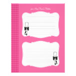 Cute Personalized Recipe Pages Letterhead Template