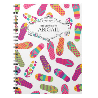 Cute Personalized Spiral Bound Notebooks