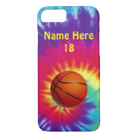 Cute Personalized Tie Dye Basketball Phone Cases