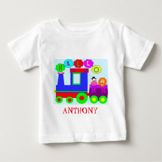 Cute personalized train baby T-Shirt