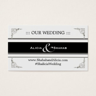Cute Personalized Wedding Website Cards