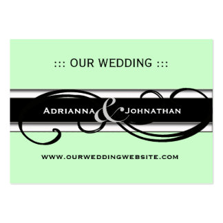 Cute Personalized Wedding Website Cards Large Business Cards (Pack Of 100)