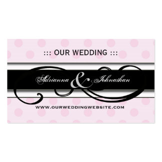 Cute Personalized Wedding Website Cards Double-Sided Standard Business Cards (Pack Of 100)