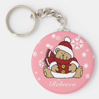 Cute Personalized Xmas Teddy Bear Keychains