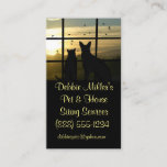 """Cute Pet and House Sitting Business Cards<br><div class=""""desc"""">Draw immediate attention with this very cute Pet and House sitting card. It is Yellow and Black, the great contrast draws the eye. It can be edited with all your personal information and on the back is the detail of services that can be added to or changes. This image, a...</div>"""