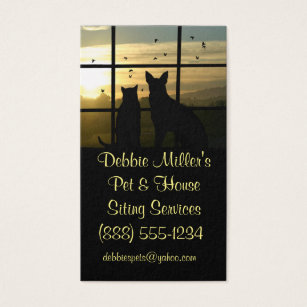 Pet business cards templates zazzle cute pet and house sitting business cards colourmoves