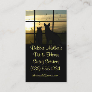 Dog business cards zazzle cute pet and house sitting business cards colourmoves