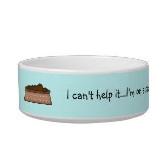 Cute Pet Dish-Food Humor/Blue Bowl