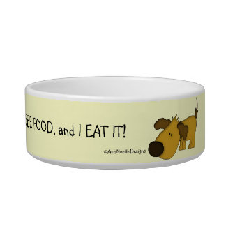 Cute Pet Dish-Food Humor/Yellow Bowl