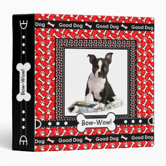 Cute Pet Dog Records Paws and Bones Binder