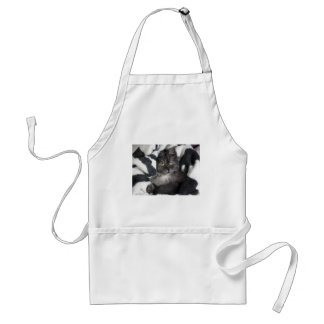Cute Pet Kitten Cat Peace Love Destiny Adult Apron