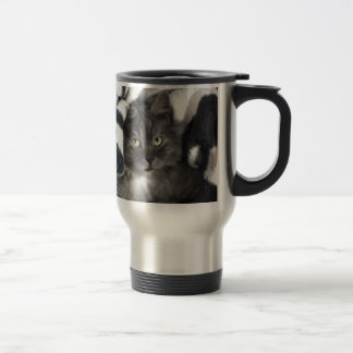 Cute Pet Kitten Cat Peace Love Destiny 15 Oz Stainless Steel Travel Mug