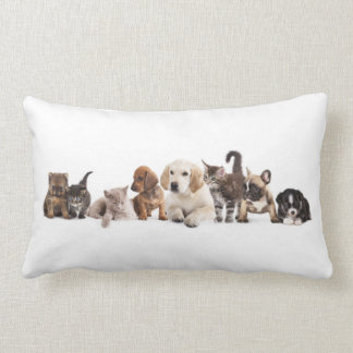 Cute Pet Panorama Lumbar Pillow