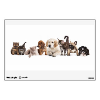 Cute Pet Panorama Wall Decal