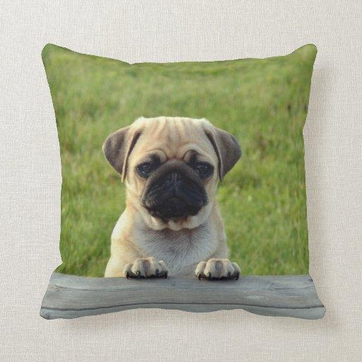 Cute Pet PUG Puppy - personalize it Pillows Zazzle