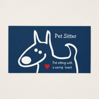 Cute Pet Sitter Business Card