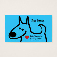 Cute Pet Sitter Business Cards at Zazzle