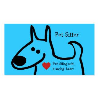 Cute Pet Sitter Business Cards